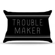 KESS InHouse Trouble Maker Pillowcase; King