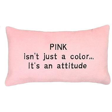 123 Creations Attitude Wool Lumbar Pillow