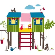 Kids Lab 24 Piece Treehouse Wall Decal Set