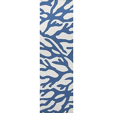 Somerset Bay Boardwalk Cobalt & White Area Rug; 2' x 3'