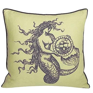 Kevin O'Brien Studio Nauticals Mermaid Throw Pillow; Aquarium