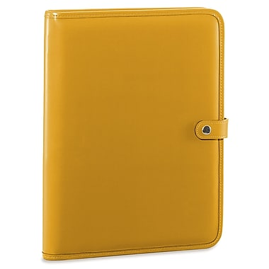 Jack Georges Milano Letter Size Writing Pad with Snap Closure; Yellow