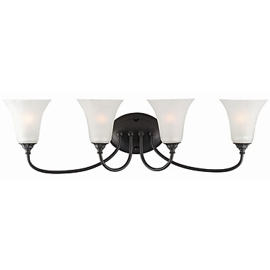 Design House Hyde 4-Light Vanity Light; Oil Rubbed Bronze