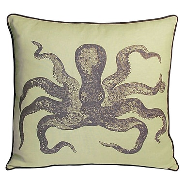 Kevin O'Brien Studio Nauticals Cuttlefish Throw Pillow; Aquarium