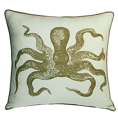 Kevin O'Brien Studio Nauticals Cuttlefish Throw Pillow; Seaglass