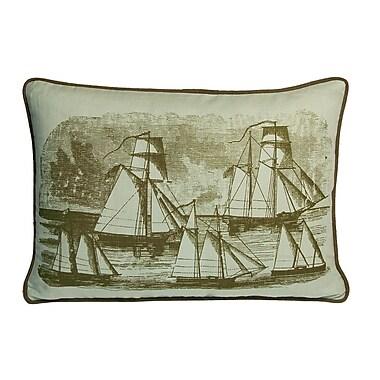 Kevin O'Brien Studio Nauticals Sailboats Lumbar Pillow; Seaglass