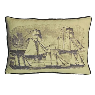 Kevin O'Brien Studio Nauticals Sailboats Lumbar Pillow; Aquarium