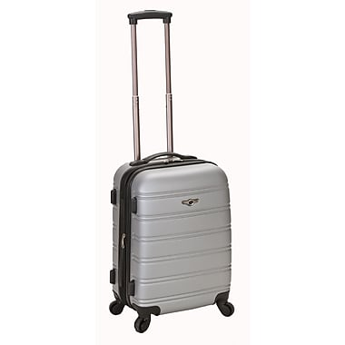 Rockland Melbourne 20'' Expandable Carry-On; Silver