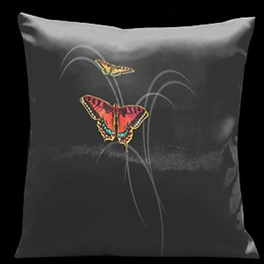 Lama Kasso Butterflies and Beauty Throw Pillow