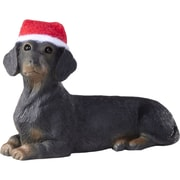 Sandicast Black Dachshund Christmas Ornament