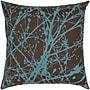 India's Heritage Print Splatter Silk Pillow; Walnut