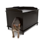 Designer Pet Products Litter Box Enclosure; Black