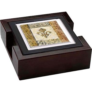Thirstystone Fleur de Lis 5 Piece Element Ambiance Coaster Gift Set