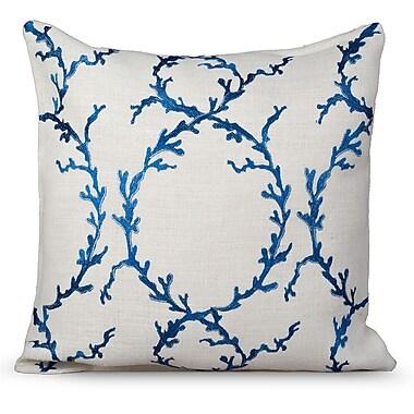 Gracious Living Coastal Burlap Throw Pillow; White