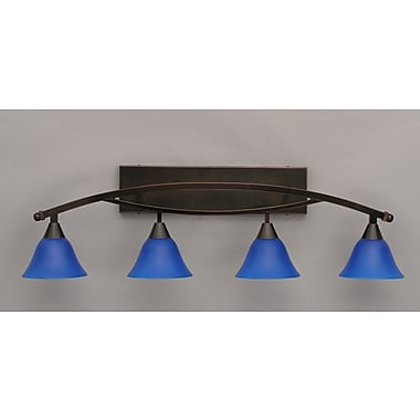 Toltec Lighting Bow 4 Light Vanity Light; Black Copper