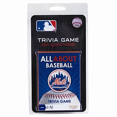 Fundex Games MLB All About Baseball Trivia Card Game; New York Mets