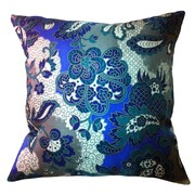 Filos Design Fiore Vintage Prints Repeat Floral Silk Pillow; Piquant