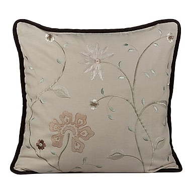 Gracious Living Golden Throw Pillow; Wheatish