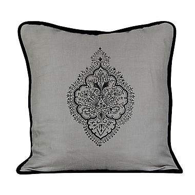 Gracious Living Peaceful Burlap Throw Pillow; Mist