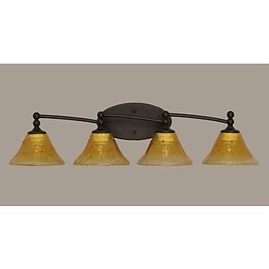 Toltec Lighting Capri 4 Light Vanity Light; Gold Champagne