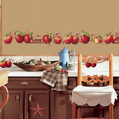 Room Mates Room Mates Deco 40 Piece Country Apples Wall Decal WYF078275787722