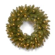 National Tree Co. Dunhill 24'' Pre-Lit Fir Wreath