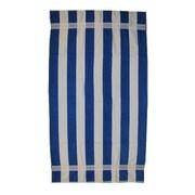 Kaufman Sales Joey Velour Stripe Beach Towel; Blue / White