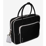 Ice Red Shine 2 Glossy Laptop Briefcase; Black