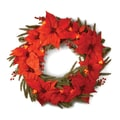 National Tree Co. Pre-Lit 24'' Poinsettia Wreath