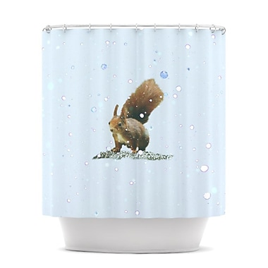 KESS InHouse Squirrel Shower Curtain