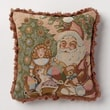 Corona Decor Holiday Whimsy Santa Pillow