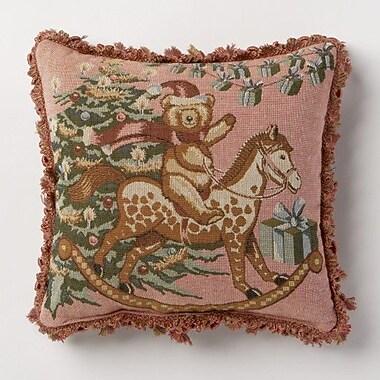 Corona Decor Holiday Whimsy Bear Throw Pillow