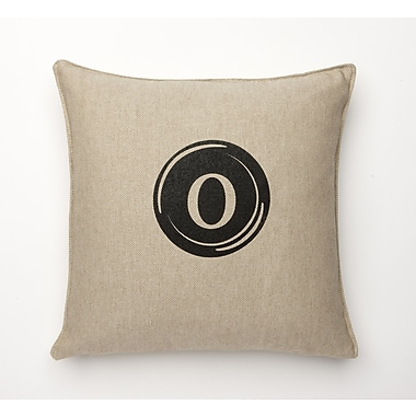 Corona Decor Linen Retro Typewriter Font Linen Throw Pillow; O