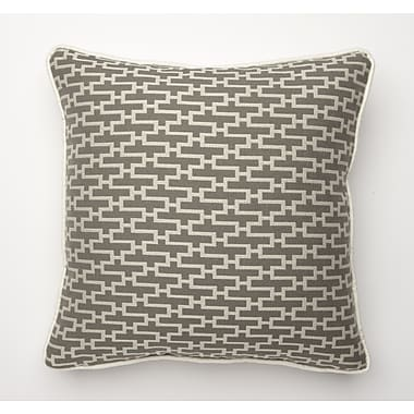 Corona Decor Dream Weave Throw Pillow; Grey
