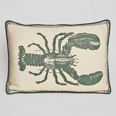 Kevin O'Brien Studio Nauticals Lobster Lumbar Pillow; South Pacific