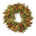 National Tree Co. Pre-Lit 30'' Cedar Mixed Pine Wreath