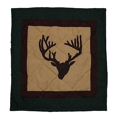 Patch Magic Deer Trail Cotton Throw Pillow