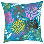 India's Heritage Floral Embroidery Pillow; Turquoise