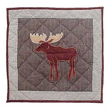 Patch Magic Moose Cotton Throw Pillow