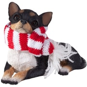 Sandicast Chihuahua Christmas Tree Ornament; Tri