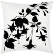 India's Heritage Taffeta Flock Pillow; Black / White