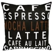 Uptown Artworks Caf  Linen Throw Pillow