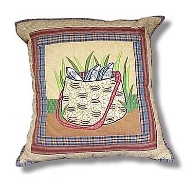 Patch Magic Gone Fishing - Bag Cotton Throw Pillow