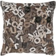India's Heritage Felt Alphabets Pillow; Mix Natural
