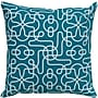 Rizzy Home Reversible Throw Pillow; Teal