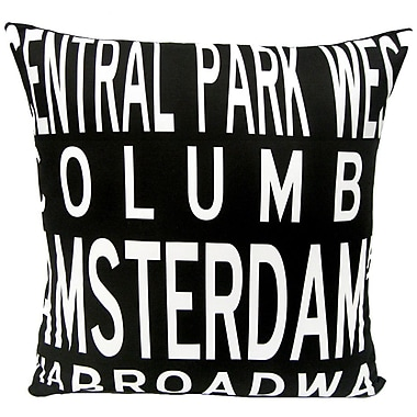 Uptown Artworks Upper West Side-NY Throw Pillow