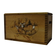 Evans Sports Wooden Accessory Box With ''Wildlife Series'' Mule Deer Print