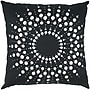 India's Heritage Lazer Cutwork Dupion Pillow; Black