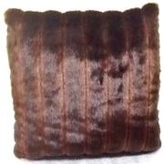 Ital Art Design Fancy Furs Two Tone Faux Fur Throw Pillow