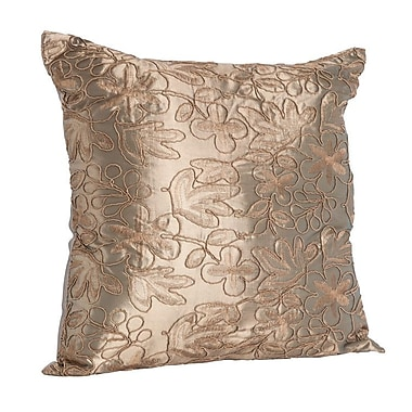 Saro Throw Pillow; Khaki